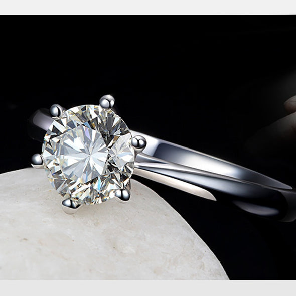 Romantic Wedding Rings Jewelry Cubic Zirconia Ring 925 Sterling Silver Rings Accessories