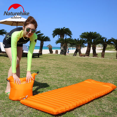 Inflatable Floating Airbed Mat With Free Gift Pillow Pad