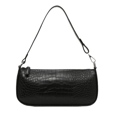 Small Luxury Shoulder Bag with Alligator Pattern