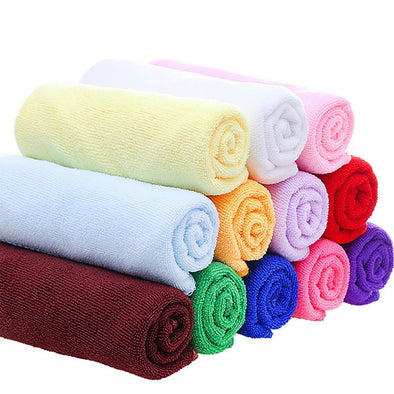 Small Polyester Absorbent Hand Towel Microfiber Towel Quick-Drying Bath Towel Bathroom Kitchen Towels Supplies