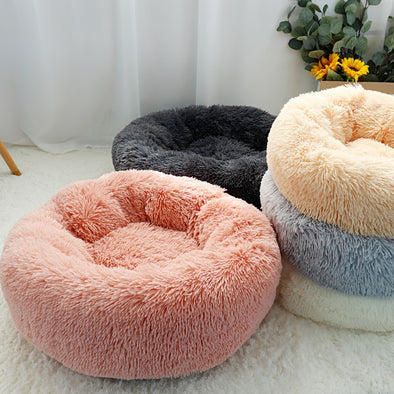 Round Fleece Bed for Pet Dog