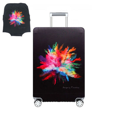Color Splash Themed Luggage Case
