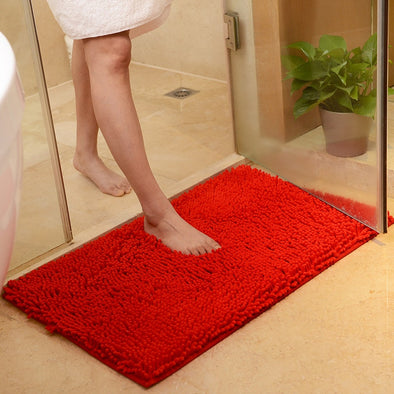 Bathroom Mat Large Thicken Chenille Floor Mat (Sizes Available)