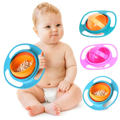 JOCESTYLE Kids Gyro Bowl 360 Rotate Anti-Spill