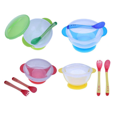Tableware with Temperature Sensing Spoon for Kids