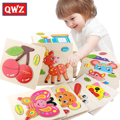Cute Cartoon Wooden Puzzle