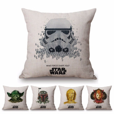 Yoda Cute Star Wars Cushion Cover