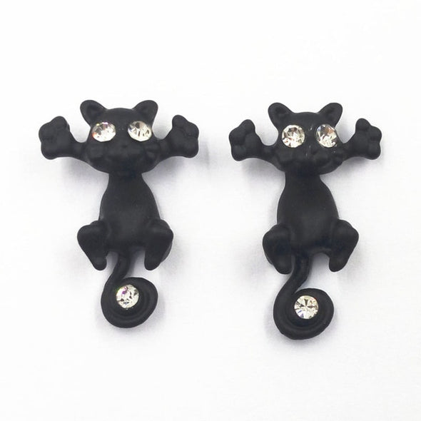 Fashion Multiple Color Classic Fashion Kitten Animal Jewelry Cute Cat Stud Earrings For Women Girls