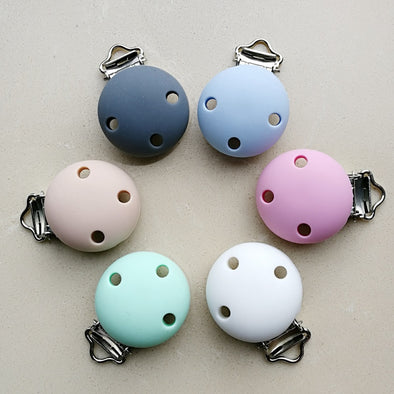 1pc New Round Shaped Pacifier Clip Silicone Bead Clip Nipple Clasps for DIY Accessories