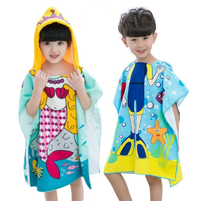 JOCESTYLE Polyester Hooded Beach Towels for Kids