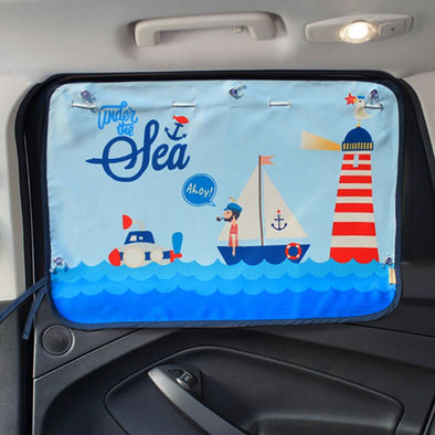 70*50 CM Children Car Side Window Sunshade Curtain
