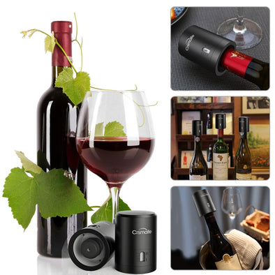 1Pc ABS Vacuum Red Wine Bottle Cap Stopper Vacuum Sealer Wine Stopper Fresh Wine Keeper Champagne Cork Stopper Kitchen Bar Tools