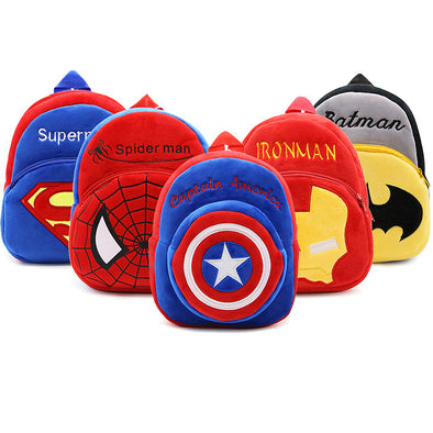 Superhero Plush Backpack for Boys