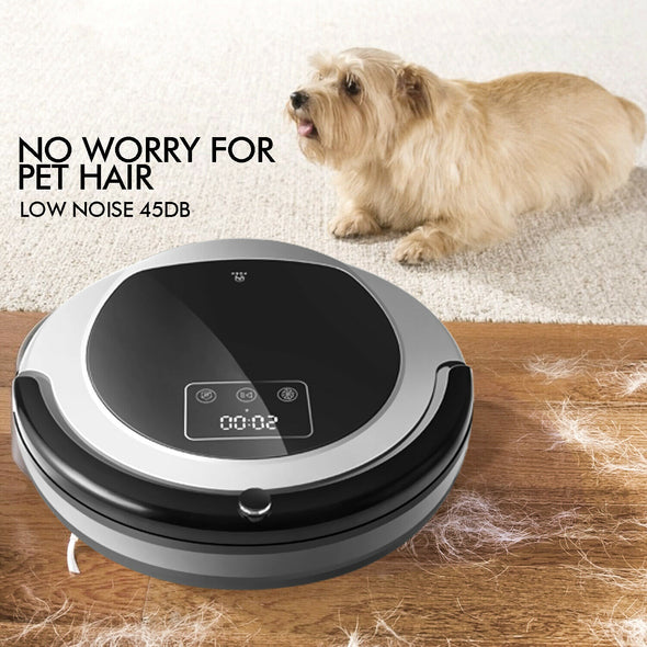 Automatic Robot Robotic Vacuum Cleaner Sweeper Dry Wet Mop Floor Carpet Recharge
