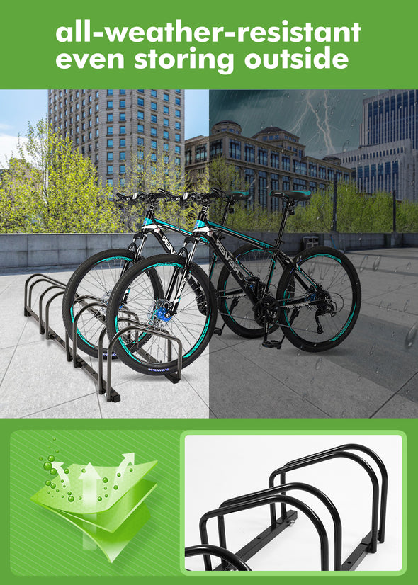 4-Bikes Stand Bicycle Bike Rack Floor Parking Instant Storage Cycling Portable
