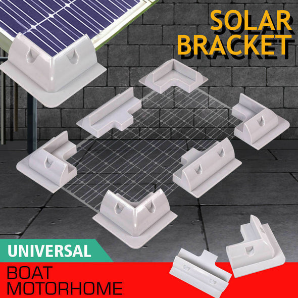 6x Solar Panel Kit Corner Cable Mounting Bracket Caravan RV Boat Roof Motorhome