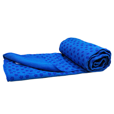Blue Non-slip Yoga Towel Mat Eco-friendly Large Blanket And Mesh Carry Bag