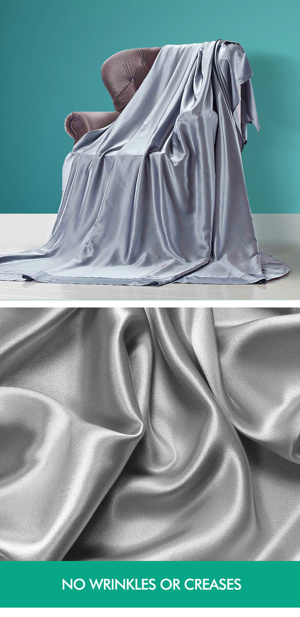 DreamZ Ultra Soft Silky Satin Bed Sheet Set in Single Size in Champagne Colour