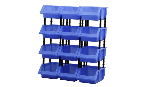 12 Plastic Parts Tools Spare Parts Storage Bins Boxes Organizer Warehouse Garage