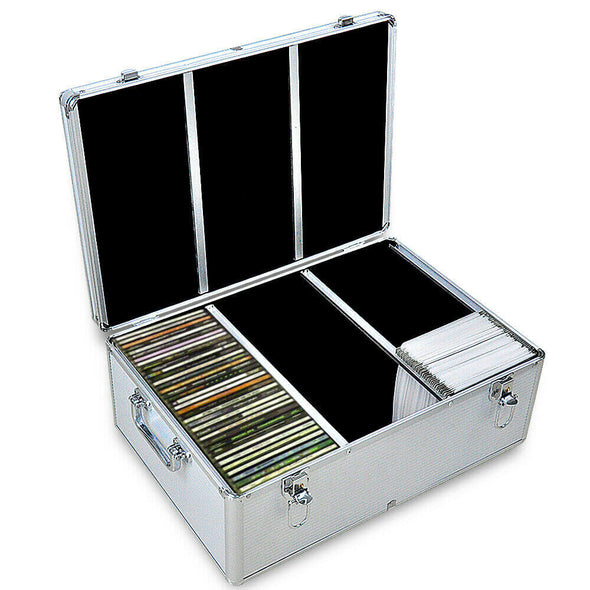 240 Discs Aluminium CD DVD Cases Bluray Lock Storage Box Organizer Free Inserts