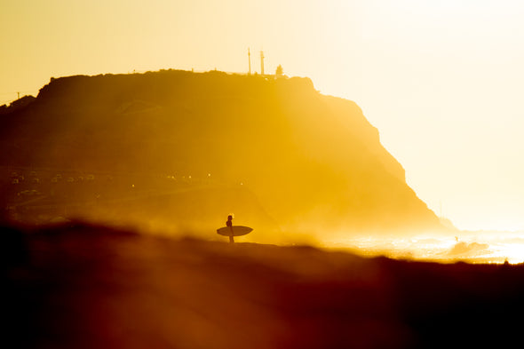 Title: Sunrise Surfer