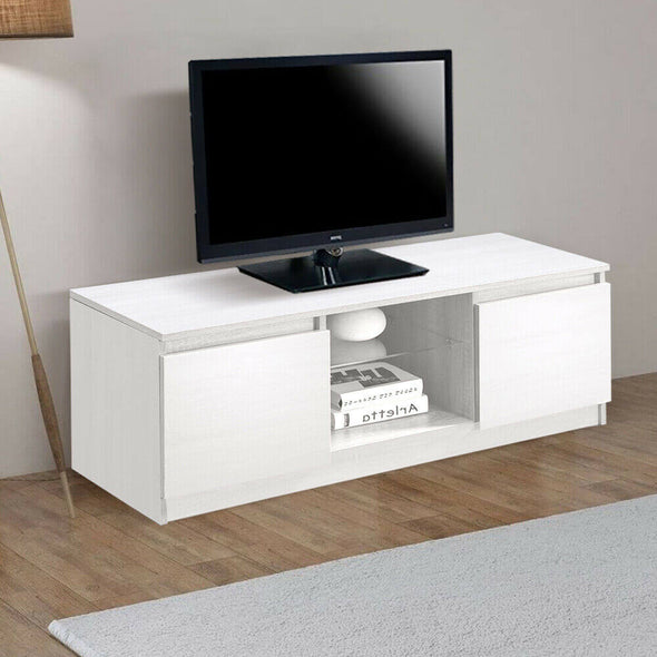 Levede TV Cabinet Entertainment Stand LED Lowline Unit Shelf Storage Furniture