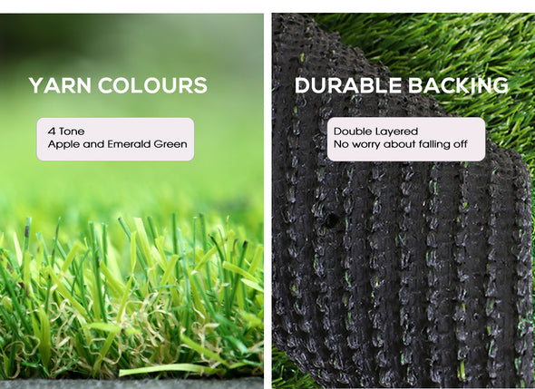 40SQM Artificial Grass Lawn Flooring Outdoor Synthetic Turf Plastic Plant Lawn