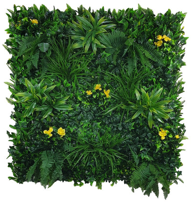 Yellow Rose Vertical Garden / Green Wall UV Resistant 100cm x 100cm