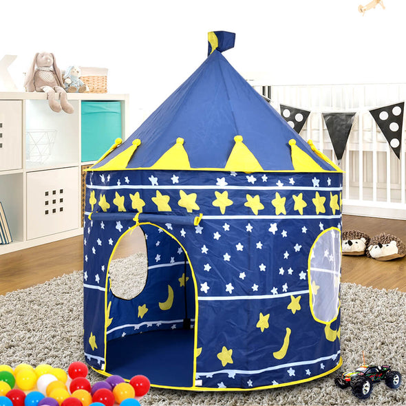 BoPeep Kids Children Play Tent Castle Kid Playhouse Gift w/ LED String Light