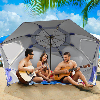 Portable Beach Umbrella Sun Shade Weather Shelter Pool Picnic Camping Blue