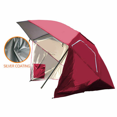 Portable Beach Umbrella Sun Shade Weather Shelter Pool Picnic Camping Red
