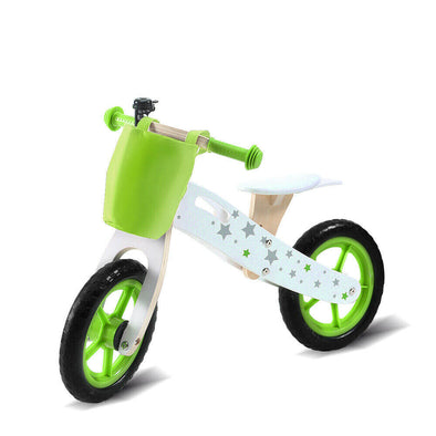 Bopeep Kids Balance Bike Ride On Toy Wooden Push Bicycle Trainer Outdoor Gift