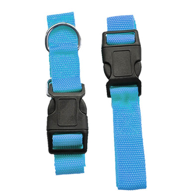 Adjustable Dog Hands Free Leash Waist Belt Buddy Jogging Walking Running Blue