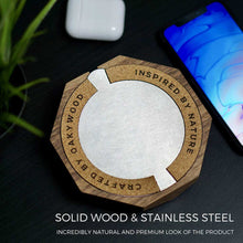 Load image into Gallery viewer, Wood Wireless Charger - Walnut