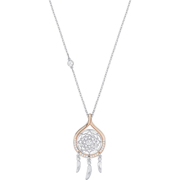 SWAROVSKI HUMANIST DREAM CATCHER PENDANT, WHITE, MIXED PLATING [ FREE SHIPPING ]