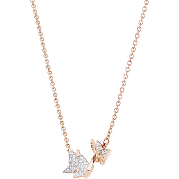 SWAROVSKI LILIA NECKLACE, SMALL, WHITE, ROSE GOLD PLATING.  LILIA [ FREE SHIPPING ]