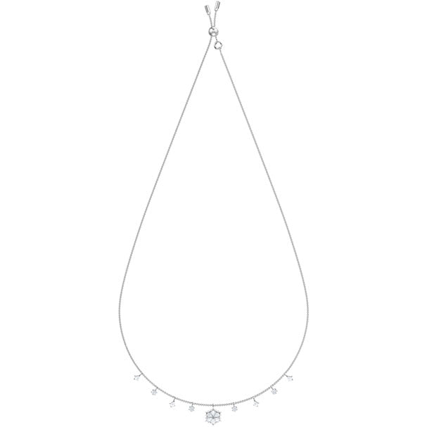 SWAROVSKI MAGIC NECKLACE, WHITE, RHODIUM PLATING.  MAGIC [ FREE SHIPPING ]
