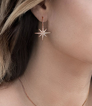 apm Monaco Meteorite Earrings Pink GM Pink Silver [ FREE SHIPPING ]