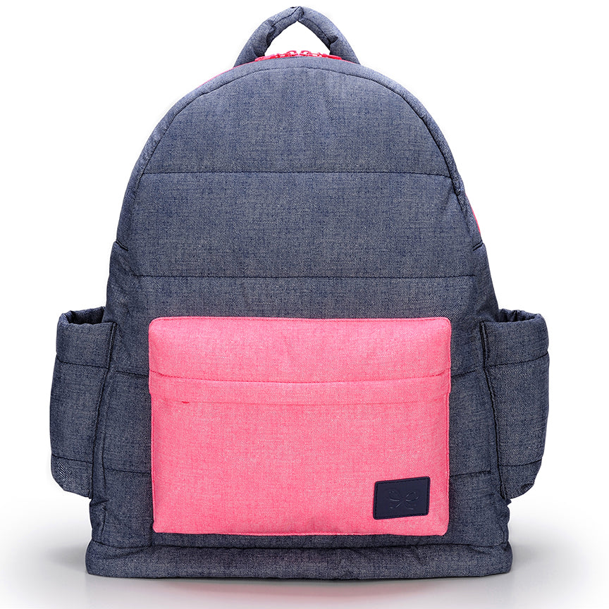 CiPU Backpack Baby Diaper Bag - Denim Pink (Large) [ FREE SHIPPING ]