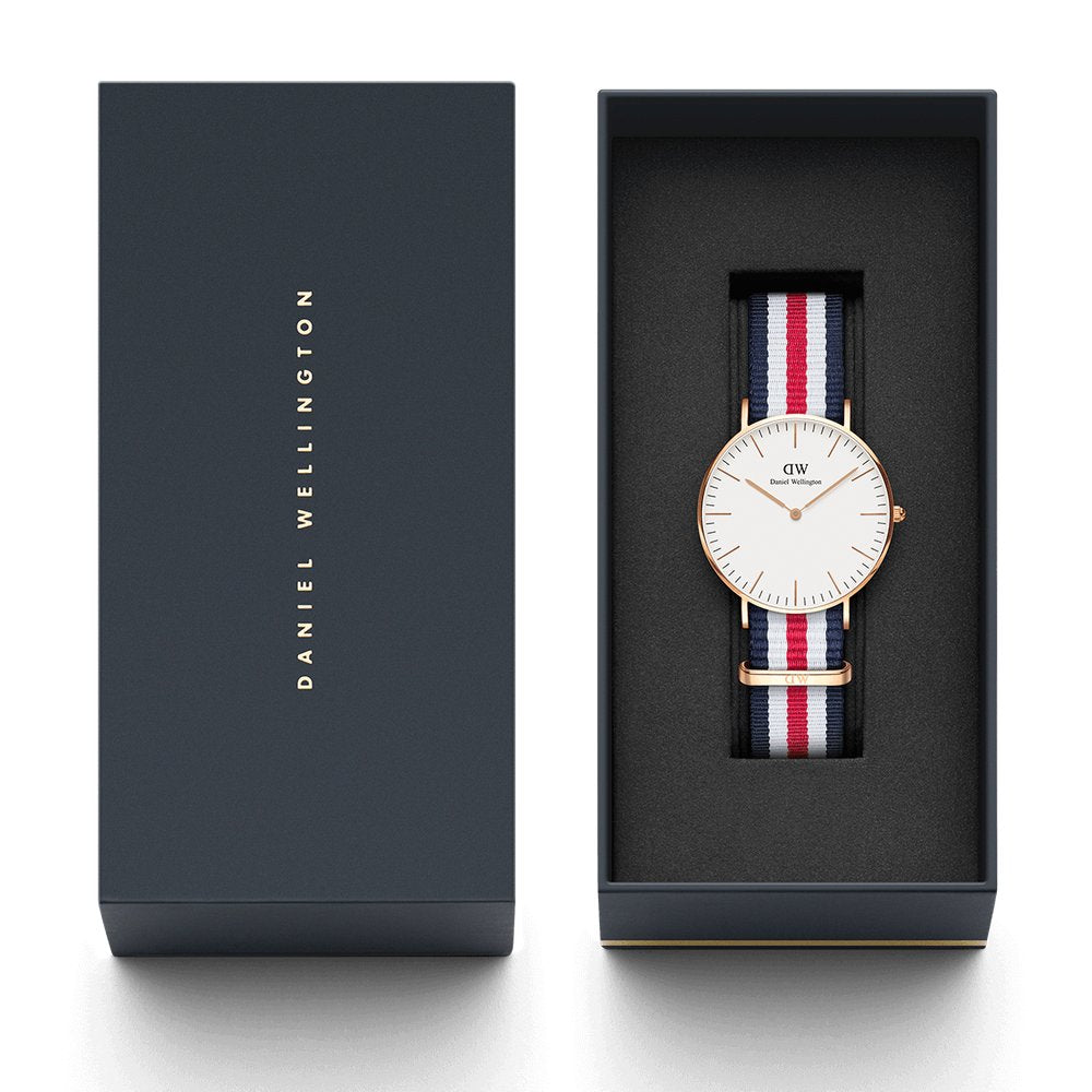 Daniel Wellington CLASSIC 36MM CANTERBURY Watch [ FREE SHIPPING ]