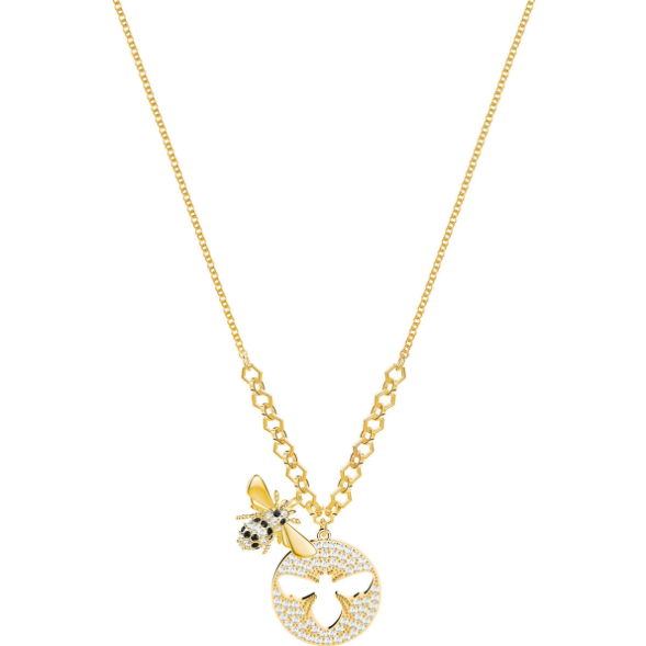 SWAROVSKI LISABEL NECKLACE, SMALL, WHITE, GOLD PLATING.  LISABEL [ FREE SHIPPING ]