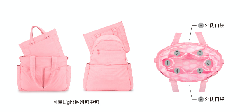 CiPU Light 2-Way Multi-Purpose Tote - Rose Pink (Small) [ FREE SHIPPING ]