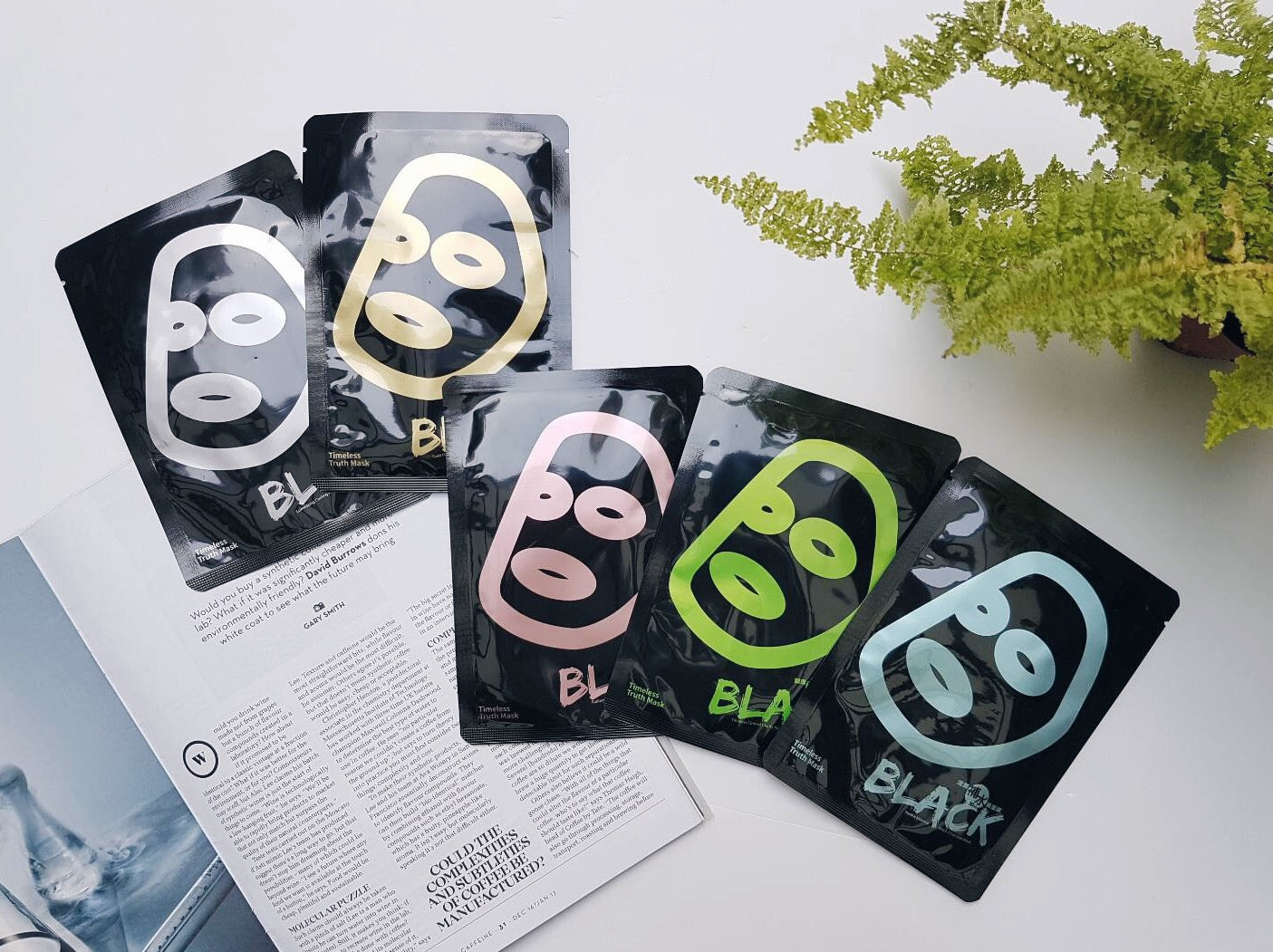 Timeless Truth Mask [ Gold Flakes Moisture Boosting Black Charcoal Mask ]  [ FREE SHIPPING ]