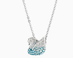 SWAROVSKI ICONIC SWAN PENDANT, MULTI-COLORED, RHODIUM PLATED