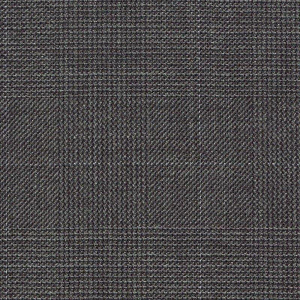 Holland & Sherry Portofino Grey Glen Check 1 3/4 x 2 1/2 inch 118018