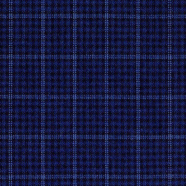 Holland & Sherry Key West Navy Grid Plaid 7/16 x 5/8 inch 166300