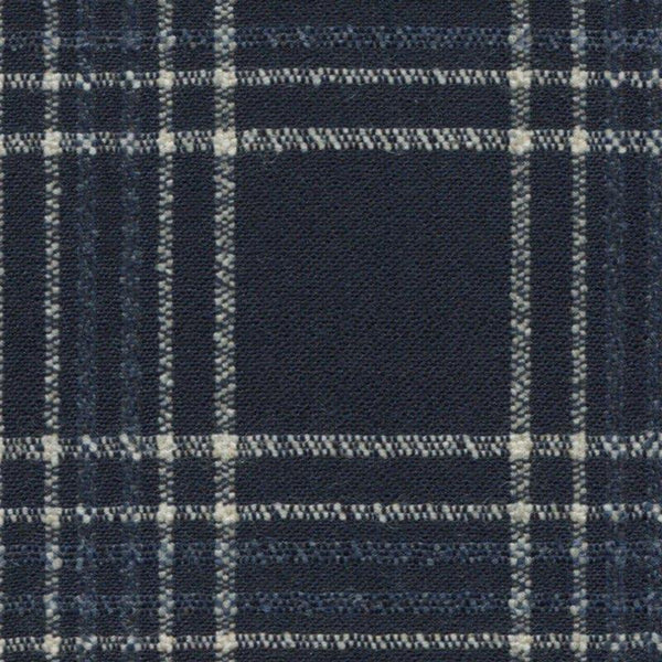 Holland & Sherry Oceania Navy with White/Slate Blue Plaid 2 1/2 x 3 inch 168003