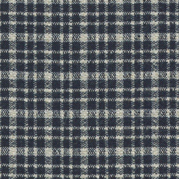 Holland & Sherry Oceania Navy and White Small Grid Check 4/8 x 4/8 inch 168006
