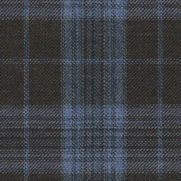 Holland & Sherry Oceania Brown/Light Blue Plaid 2 x 2 2/8 inch 168100