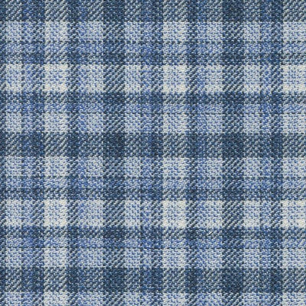 Holland & Sherry Oceania Light Blue Gun Club Plaid 1 x 1 2/8 inch 168102